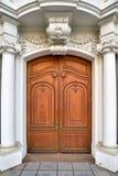 Barokowy dzwi wejściowy stary dom w Drezdeńskim Fotografia Royalty Free