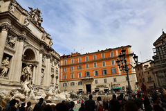 barokowy fontanny trevi arcydzieła Włochy Rzymu Obrazy Stock
