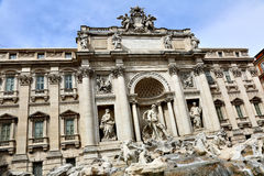 barokowy fontanny trevi arcydzieła Włochy Rzymu Zdjęcie Stock