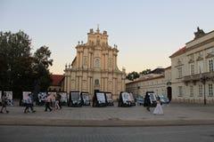 Barokowy kościół w centrum Warszawski Polska obrazy stock