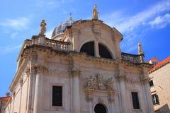 Barokowy kościół święty BÅ 'aÅ ¼ ej w Dubrovnik na LuÅ ¾ kwadrat zdjęcie royalty free