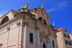 Barokowy kościół święty BÅ 'aÅ ¼ ej w Dubrovnik na LuÅ ¾ kwadrat obrazy stock