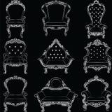 Barokowy luksusu stylu meble Zdjęcia Royalty Free