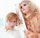 barokowy pary inspiraci wampira rocznik Fotografia Royalty Free