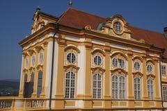 Barokowy podwórze Benedictjne opactwo obraz stock