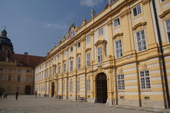 Barokowy podwórze Benedictjne opactwo zdjęcie stock