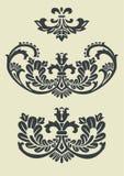 barokowy projekt deseniuje setu wektor Zdjęcia Royalty Free