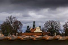 Barokowy przyklasztorny i tabor cesky krumlov republiki czech miasta średniowieczny stary widok obraz royalty free
