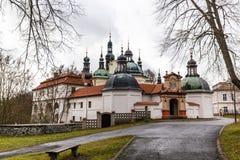 Barokowy przyklasztorny i Tabor miasto, republika czech obraz royalty free