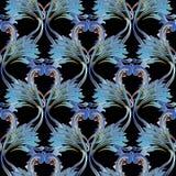 Barokowy rocznika tło adamaszkowy wzór Zdjęcie Stock