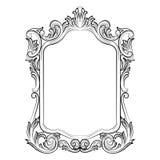 Barokowy rokoko lustra ramy wystrój Zdjęcia Stock