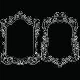 Barokowy rokoko lustra ramy wystrój Zdjęcia Royalty Free