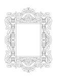 Barokowy rokoko ramy wystrój Obraz Royalty Free