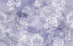 Barokowy tekstura wzoru wektor Kwiecistego ornamentu dekoracja Wiktoriański grawerujący retro projekt Rocznik tkaniny wystroje Lu obrazy stock