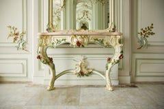 Barokowy wnętrze szlachetny pałac fotografia royalty free