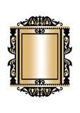 Barokowy Złoty rokoko ramy wystrój Fotografia Royalty Free