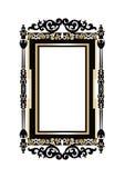 Barokowy Złoty rokoko ramy wystrój Zdjęcia Royalty Free
