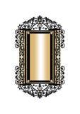 Barokowy Złoty rokoko ramy wystrój Fotografia Stock