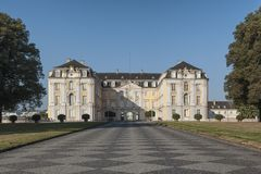 Baroku Augustusburg kasztel jest jeden pierwszy znacząco tworzenia rokoko w Bruhl blisko Bonn Fotografia Royalty Free