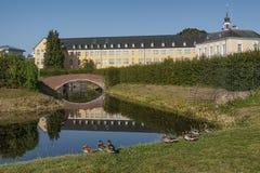 Baroku Augustusburg kasztel jest jeden pierwszy znacząco tworzenia rokoko w Bruhl blisko Bonn Zdjęcia Stock