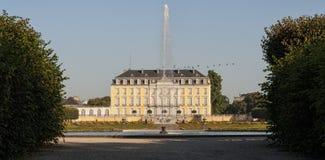 Baroku Augustusburg kasztel jest jeden pierwszy znacząco tworzenia rokoko w Bruhl blisko Bonn Obraz Stock