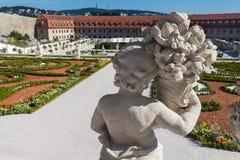 Baroku ogród, Bratislava kasztel, Sistani, Sierpień 02, 2016 Fotografia Royalty Free