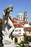 baroku ogrodowy Prague vrtbovska zdjęcia royalty free