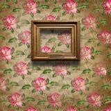 baroku ram grunge wnętrza styl Obraz Stock