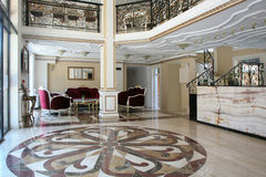 Baroku stylowy hotelowy wnętrze Obraz Stock