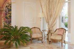 Baroku stylowy hotelowy wnętrze Zdjęcia Royalty Free