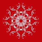 Baroku stylowy mandala bożych narodzeń dekoraci fantazi błyskotliwości winogron motyw Zdjęcia Royalty Free
