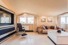 Baroku stylowy żywy pokój Obrazy Royalty Free