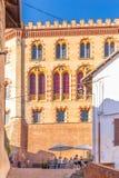 Barolo, Пьемонт, Италия, 12-ое сентября 2017 Замок Barolo внутри Стоковое Фото