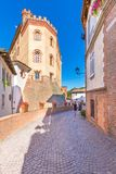 Barolo, Пьемонт, Италия, 12-ое сентября 2017 Замок Barolo внутри Стоковое Изображение RF