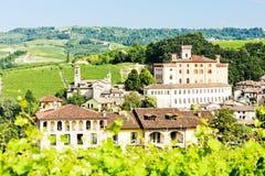 Barolo Piedmont, Italien Royaltyfri Foto