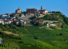 Barolo Piedmont Italien Arkivfoton
