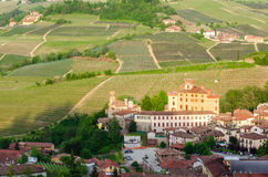 Barolo village and Castle, Langhe Royalty Free Stock Photos