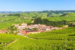 Barolo castle, Falletti castle, in Langhe, Piedmont, Italy, Stock Photo