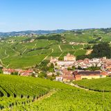 Barolo castle, Falletti castle, in Langhe, Piedmont, Italy, Royalty Free Stock Photos