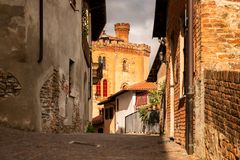 Barolo village in Italy royalty free stock photography