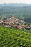 Barolo, vineyard and hills of the Langhe region. Piemonte, Italy Stock Image