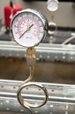 Baromètre hydraulique industriel Images libres de droits