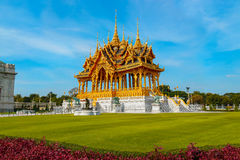 Barom Mangalanusarani Pavillian in the area of Ananta Samakhom Throne Hall in Royal Dusit Palace in Bangkok Royalty Free Stock Photo