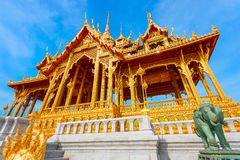 Barom Mangalanusarani Pavillian in the area of Ananta Samakhom Throne Hall in Royal Dusit Palace in Bangkok Stock Image