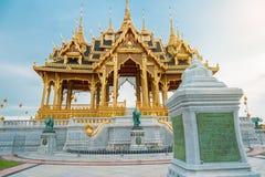 Barom Mangalanusarani Pavillian with stone inscription in the area of Ananta Samakhom Throne Hall. In Thai Royal Dusit Palace, Bangkok, Thailand Royalty Free Stock Photos