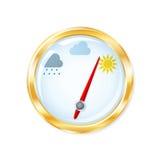 Barometer шndicates sunny weather Stock Images