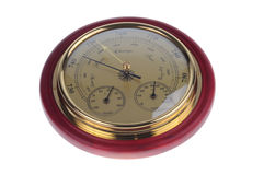Barometer. Isolated on a white background royalty free stock images