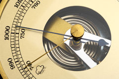 Barometer. Old barometer forecasting stormy weather stock photography