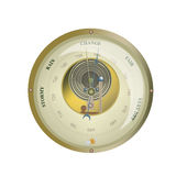Barometer. Antique barometer isolated on a white background Royalty Free Stock Photos