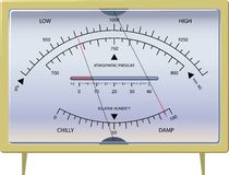Barometer. The device for measurement of a condition of weather. vector. illustration Royalty Free Stock Photo
